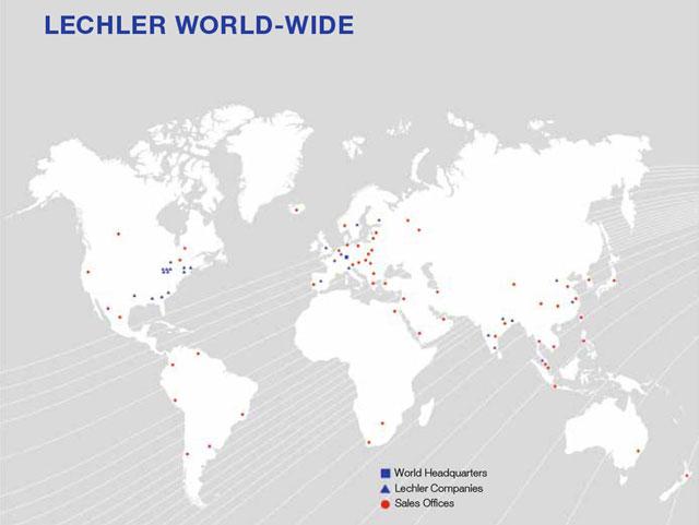 世界的ノズルメーカーレヒラーの拠点図